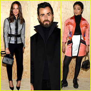 Alicia Vikander, Justin Theroux, Ruth Negga, & More Louis Vuitton Fans Attend Paris Show!