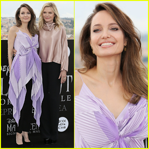 Angelina Jolie & Michelle Pfeiffer Promote 'Maleficent' Together in Rome!