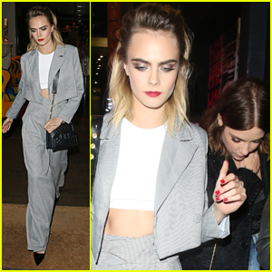 Cara Delevingne Celebrates Her New Collection With Nasty Gal at London Party