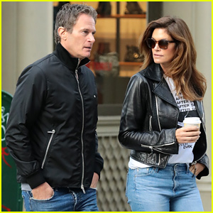 Cindy Crawford & Rande Gerber Wear Similar Outfits for NYC Stroll