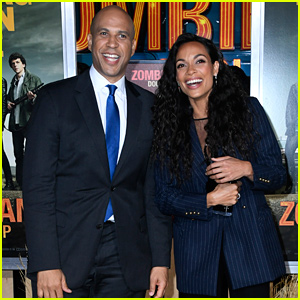 Cory Booker Happily Supports Rosario Dawson at 'Zombieland: Double Tap' Premiere