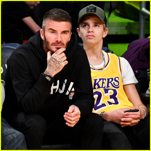 David Beckham Sits Courtside at Lakers Game with Son Romeo!