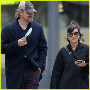 David Harbour & Girlfriend Lily Allen Couple Up For NYC Stroll