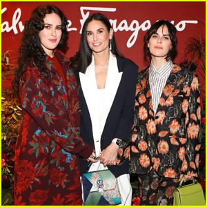 Demi Moore Celebrates Her Memoir Release With Daughters Rumer & Tallulah