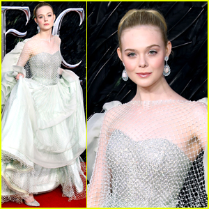 Elle Fanning Wows In An Armani Gown For Maleficent
