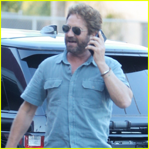 Gerard Butler Chats on the Phone During Afternoon Outing in L.A.