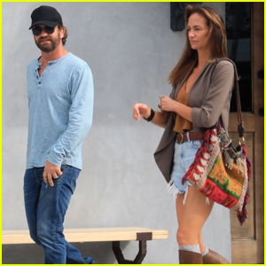 Gerard Butler Makes Rare Appearance With Girlfriend Morgan Brown During Lunch Date