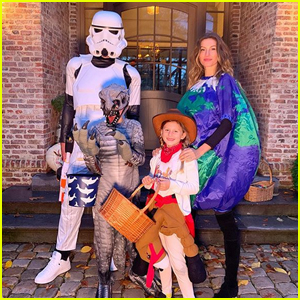 Gisele Bundchen Gets Ready for Trick-Or-Treating with Tom Brady & Their Kids!
