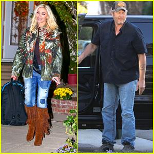 Gwen Stefani Celebrates Her 50th Birthday With Blake Shelton & The Kids!