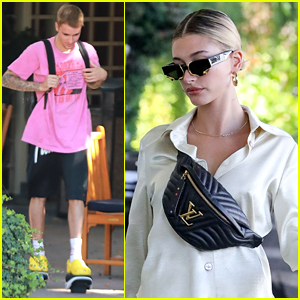 Justin Bieber Tries Out Hover Shoes While Out in LA