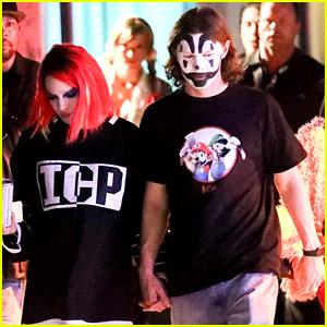 Halsey & Evan Peters Hold Hands at Her Halloween Party!