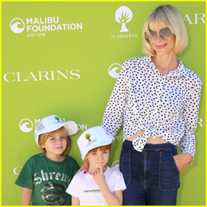 Jaime King Brings Her Kids to Re-Plant Love Event Hosted by Clarins & Malibu Foundation!