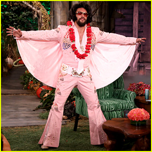 Jason Momoa Makes an Epic Entrance as Elvis Presley During 'Ellen' Halloween Episode - Watch!