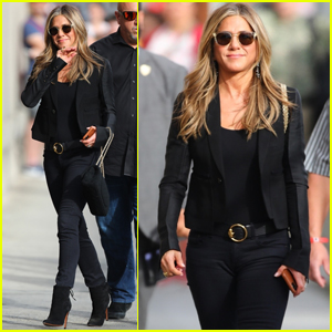 Jennifer Aniston Gets Chic For 'Jimmy Kimmel Live' Appearance