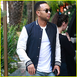 John Legend Heads to Work After Cute Piano Duet With Miles (Video)