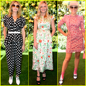 Julia Roberts Joins Kirsten Dunst & Busy Philipps at Veuve Clicquot Polo Classic