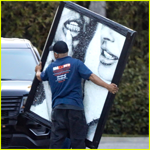 Justin & Hailey Bieber Get One of Their Wedding Pictures Made Into a Massive Framed Photo