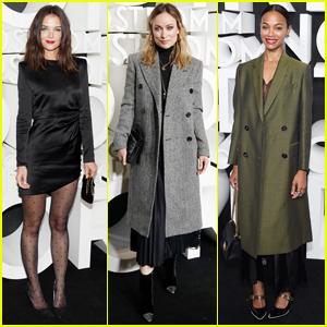 Katie Holmes, Olivia Wilde, & Zoe Saldana Attend Nordstrom Flagship Store Opening in NYC!