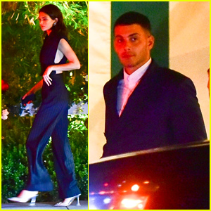 Kendall Jenner & Fai Khadra Dress Up for Dinner in Santa Monica