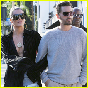 Khloe Kardashian Holds on Close to Scott Disick as They Head to Lunch