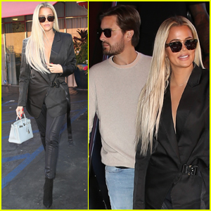 Khloe Kardashian & Scott Disick Meet Up for Lunch in Studio City