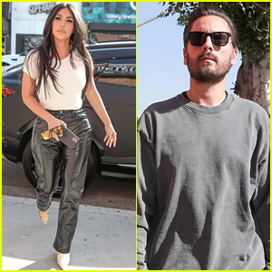 Kim Kardashian & Scott Disick Visit Groundlings Theatre & School in West Hollywood