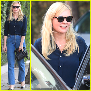 Kirsten Dunst Chats It Up During Business Lunch in WeHo