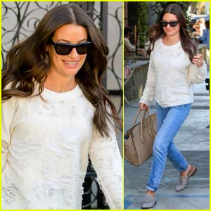 Lea Michele Enjoys an Afternoon of Pampering in West Hollywood