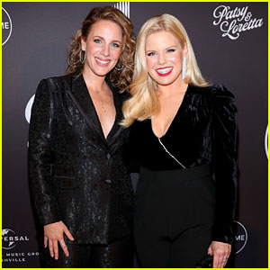 Megan Hilty & Jessie Mueller Match in Black at 'Patsy & Loretta' Premiere!