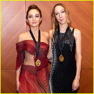 Miss Dubai Megan Pormer & Designer Iris Van Herpen Receive Honors at Dubai Fashion Week