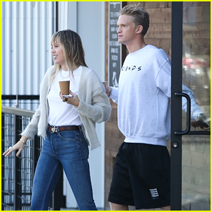 Miley Cyrus & Cody Simpson Make Sunday Morning Coffee Run