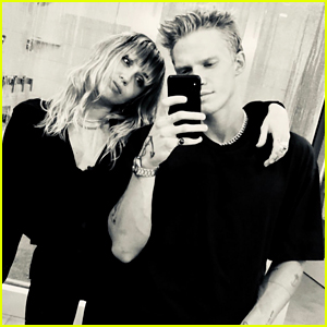 Miley Cyrus & Cody Simpson Tried the 'Joker' Filter in Bed