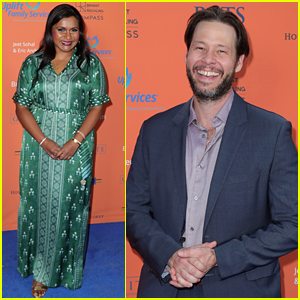 Mindy Kaling & Ike Barinholtz Reunite at Uplift Family Services Event