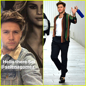 Niall Horan Continues Radio Promo Tour in NYC & Runs Into Selena Gomez Poster