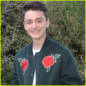 Noah Schnapp Wears Roses On His Jacket For Lacoste Fashion Show