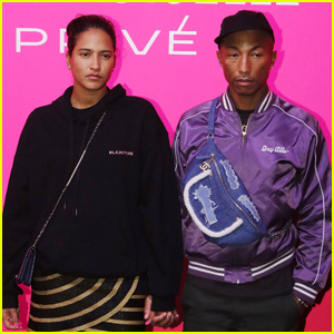 Pharrell Williams & Wife Helen Lasichanh Couple Up for Chanel Mademoiselle Prive Exhibition in Toyko