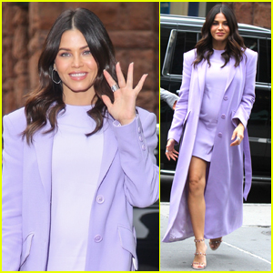 Pregnant Jenna Dewan Goes Pretty in Purple While Promoting New Book 'Gracefully You'