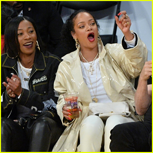 Rihanna Sits Courtside at First Lakers Game of the Season!