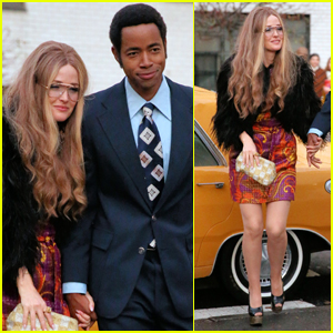 Rose Byrne Transforms Into Gloria Steinem While Filming 'Mrs. America' in NYC!