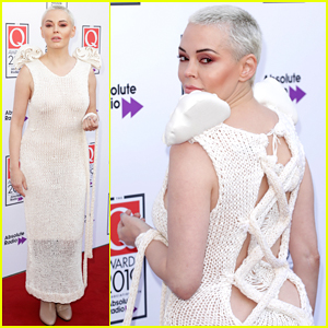 Rose McGowan Goes Sheer To Present at Q Awards 2019!