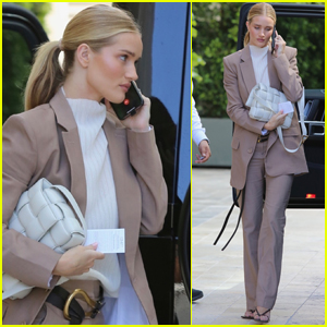 Rosie Huntington-Whiteley Suits Up for Meeting in Beverly Hills
