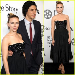 Scarlett Johansson & Adam Driver Premiere 'Marriage Story' During New York Film Fest
