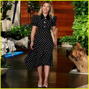 Scarlett Johansson Tells Ellen She Was Surprised By Colin Jost S Proposal He Killed It Scarlett Johansson Just Jared