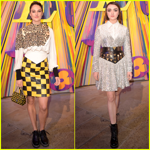 Shailene Woodley & Maisie Williams Show Off Their Cool Style at Louis Vuitton Reopening in London!