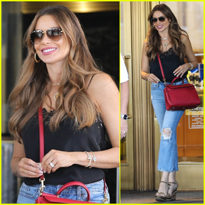 Sofia Vergara is All Smiles While Shopping in Beverly Hills