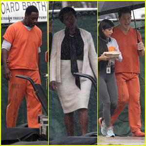 'The Suicide Squad' Cast Films Scenes Inside an Atlanta Prison!
