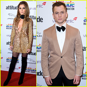 Taron Egerton & Cheryl Go Gold at Attitude Awards in London