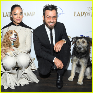 Tessa Thompson & Justin Theroux Are Joined by 'Lady & the Tramp' Dog Stars at NYC Premiere!
