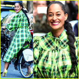 Tracee Ellis Ross Wears a Glam Outfit While Going for a Bike Ride!