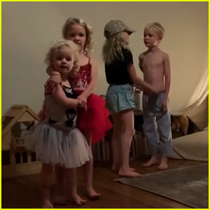 James Van Der Beek's Kids Adorably Recreate Their Dad's Disney Night 'DWTS' Performance - Watch!